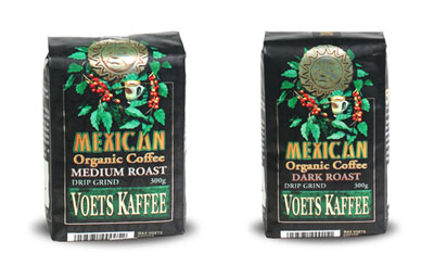 Voets certified organic and fair trade coffee
